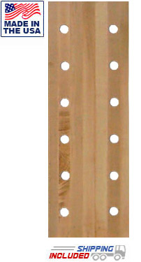 "12-Hole 12"" Wide Maple Pegboard Climber"