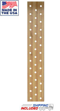"38-Hole 12"" Wide Maple Pegboard Climber"