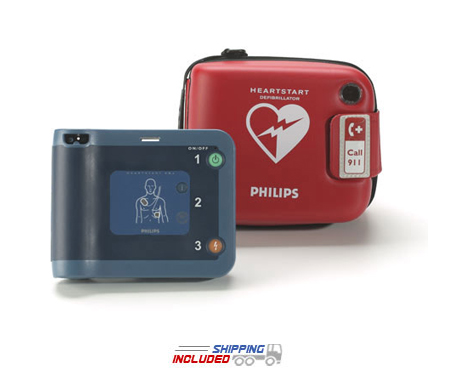 Philips 861304 HeartStart FRx Defibrillator for gyms, schools and offices
