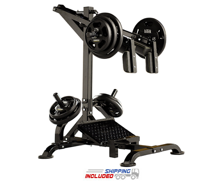 Powertec L-SC16 Plate Loaded Leverage Squat / Standing Calf Machine Combo