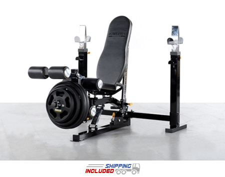 Powertec WB-OB11 Low Profile Adjustable Olympic Bench Press
