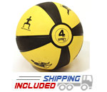 Yellow 4 lb. Self-Guided SMART Medicine Balls