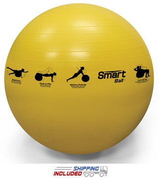 Self-Guided SMART Stability Ball 55 cm - Yellow