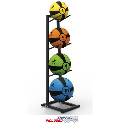 Self-Guided SMART Medicine Balls with Rack Package – 4, 6, 8, 10 lbs.