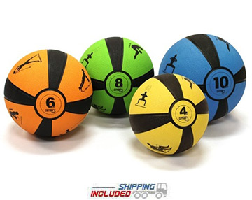 Prism Fitness Self-Guided SMART Medicine Ball Set