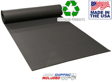 Black Commercial Rolled Rubber For Gyms