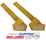 Schiek Extra Thick Leather Weightlifting Straps for Barbells and Dumbbells