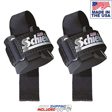 Schiek 1000-PLS Power Lifting Straps in Black