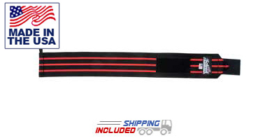 Schiek USA Made Black Line Wrist Wraps for Wrist Support