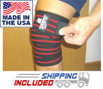 Heavy Duty Knee Wraps with Velcro Closure Black