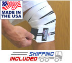 Heavy Duty Knee Wraps with Velcro Closure