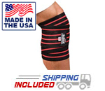 Schiek Black Line Knee Wraps for Leg Training