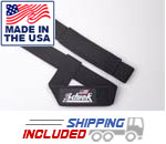 USA Made Neoprene Padded Basic Cotton Lifting Straps