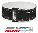 Schiek L6010 Suede Leather Double Prong Competition Powerlifting Belt