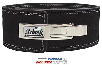Schiek L7010 Suede Leather Lever Power Lifting Belt for Competition