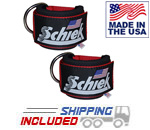 Red Schiek 1700 Nylon Ankle Straps for Cable Machines