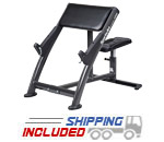 SportsArt A999 Commercial Arm Curl Bench with Adjustable Seat
