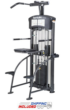SportsArt DF-107 Selectorized Assisted Chin-Up / Tricep Dip