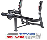 SportsArt A997 Olympic Decline Bench Press w/Adjustable Leg Rollers