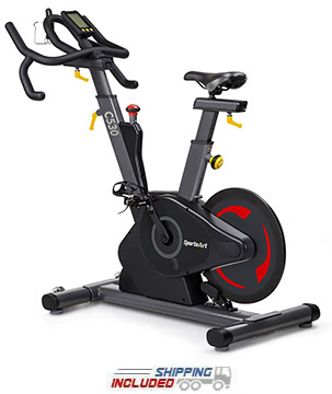 SportsArt Fitness C530 Status Series Indoor Cycle with Rear Flywheel