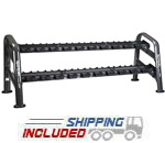 SportsArt A901 10 Pair Pro Style 2-Tier Dumbbell Rack on GSA contract