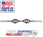 7' Double Angled Handle Olympic Bar