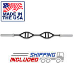7' Double Parallel Handle Olympic Bar