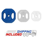 Rubber Encased Regular Grip Plates (Blue) - 10 lb pair