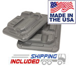 The Step F1110W Freestyle Original Step Blocks 2-Pack in Grey