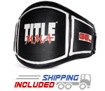 Title Boxing GMMBP BK/WH MMA Gel Belly Protector Belt
