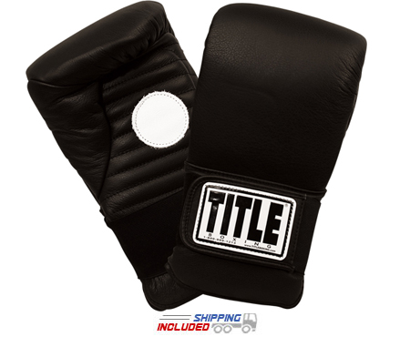 Title Boxing CPM Leather Catch-N-Return Mitts with Target in Palm