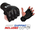 Title Boxing GRPPEX Ultimate Leather Grappling Gloves with Velcro Closure