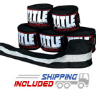 Title Boxing PHW Black Platinum Boxing Hand Wraps with Velcro Closure