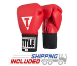 Title Boxing ACGES Red Competition Boxing Gloves with Hook and Loop Closure