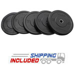 TKO Solid Rubber Bumper Plate Sets