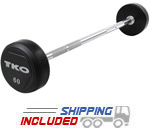 TKO Rubber Encased Steel Barbell