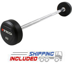 TKO Urethane Encased Steel Barbell Set