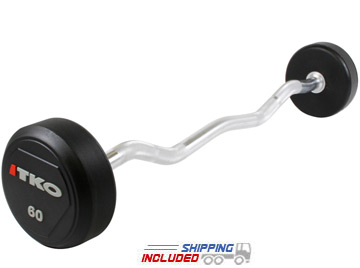 urethane encased barbell set