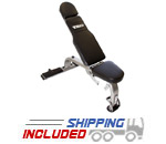 TKO 824FID Adjustable Weight Bench with Rolling Transport System