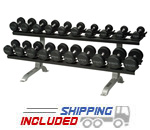 Rubber Encased Trip Grip Handle Dumbbells Package DEAL