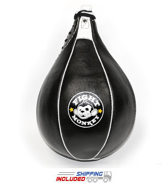 "Fight Monkey MMA 14"" Leather Speed Bag"