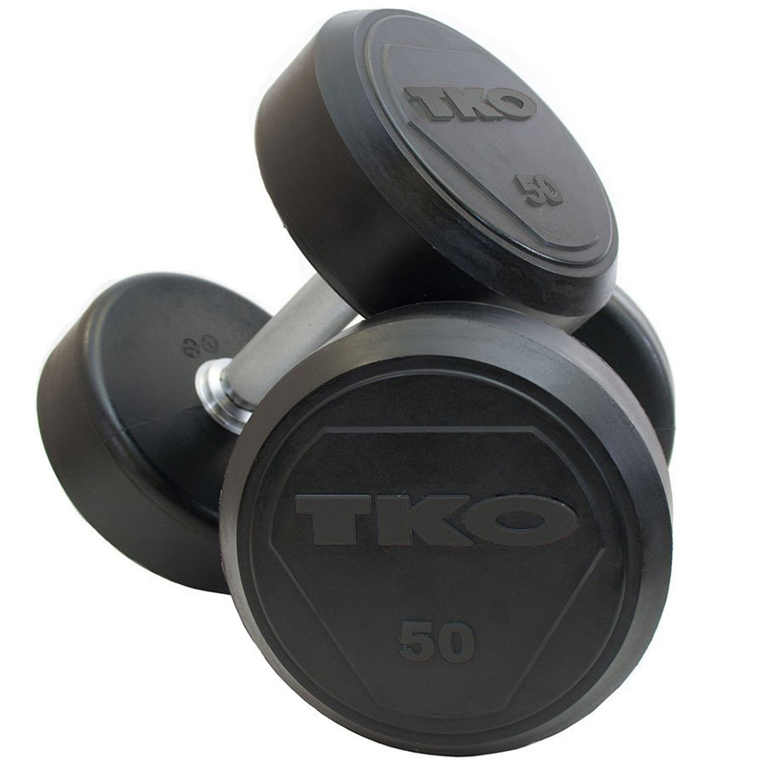 TKO Strength and Fitness Equipment offering Weight Benches, Bumper Plates and Solid Steel Dumbbells at Ironcompany.com