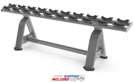 M Series Commercial Single-Tier Dumbbell Rack