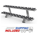 M Series Commercial Two-Tier Dumbbell Rack