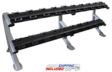 Torque Fitness MTTDR M Series Commercial Two-Tier Dumbbell Rack