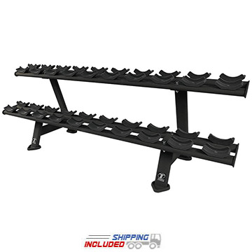 Torque Fitness XTTDR X Series Commercial Two-Tier Dumbbell Rack