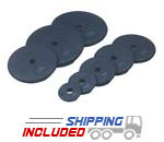 Rubber Coated Plates For Barbells and Dumbbells