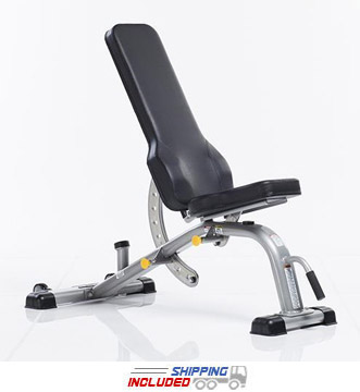 Evolution Light Commercial Deluxe Flat Incline Bench