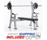 Evolution Light Commercial Olympic Flat Bench with Safety Stoppers