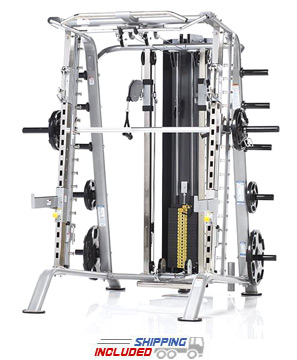 Evolution Light Commercial Smith Machine / Half Cage with Bench Package